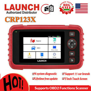 Launch X431 Crp123x Auto Diagnostic Tool Obd2 Code Reader Scanner As Crp123 Vii
