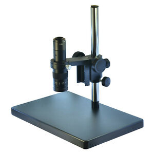 Metal Boom Stereo Microscope Camera Table Stand Holder 180x Zoon C mount Lens