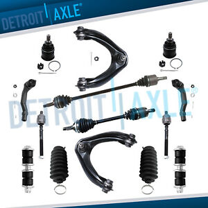 14pc Front Cv Axles Upper Control Arm Suspension Kit For 96 00 Honda Civic