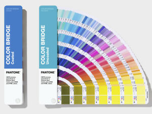 Pantone Color Bridge Gloss Coated Uncoated 2 Book Set Latest 2019 Version New