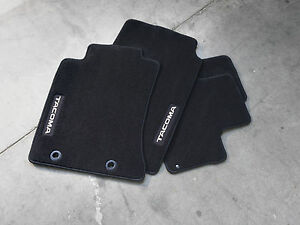 4 Piece Black Carpet Floor Mat For 2012 2015 Toyota Tacoma Access Cab New Oem