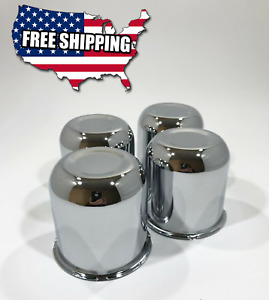 4 X Chrome Steel Push Thru Center Caps Fit Wheels Rims With 3 30 Center Bore