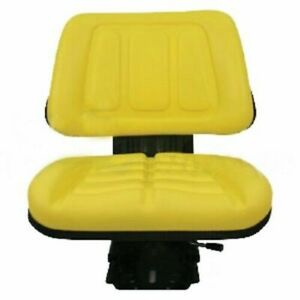 Yellow Tractor Suspension Seat For John Deere 5200 5210 5300 5310 5400 5410 vd2