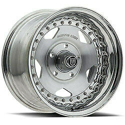15x7 Centerline 000p Convo Pro Polished Wheels 5x4 5 6mm Set Of 4