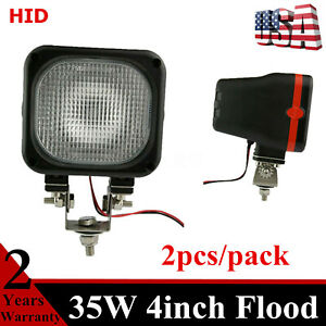 2pcs 35w Work Light Hid Xenon Lamp Fits Front Jeep Truck 4wd Offroad 12v Dc 55w
