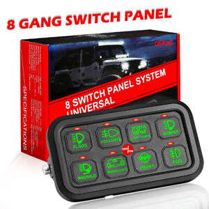 Switch Panel Electronic Relay System 8gang 60aa For Led Work Light Bar Car Boat