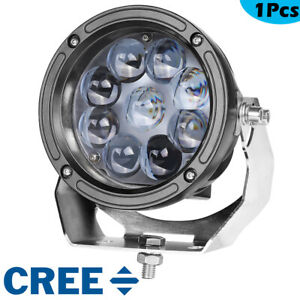 6 Cree Round Led Driving Spot Lights Work Pods Heavy Duty Off Road 4wd 12v 5 5