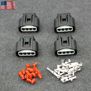 4 Pcs Ignition Coil Plug Connector Kit For Toyota Lexus Camry Yaris 90980 11885