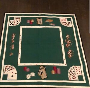 Amazing Handmade Detailed Needlepoint Poker Table Top Very Unique