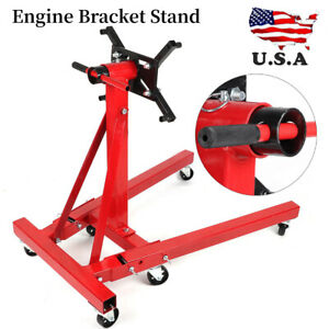 2000lbs 907kg Foldable Engine Bracket Stand Hoist Engine Maintenance Support