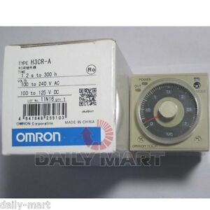 Omron Timer H3cr a H3cra 100 240vac 100 125vdc New In Box Nib Free Ship