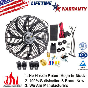 12v 16 Automotive Air Conditioning Cooling Electric Fan Harness Assembly Kit