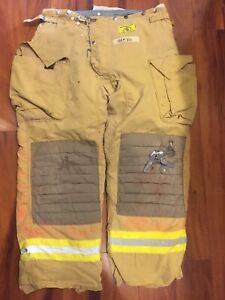 Firefighter Honeywell Morning Pride Turnout Bunker Pants 40x30 Costume Used