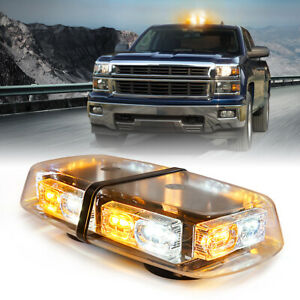 Xprite Amber White Strobe Light 36 Led Emergency Warning Flash Beacon 12v Truck