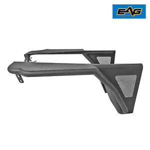 Eag Front Tube Fender W Flare Rocker Guard Black Textured Fit For 97 06 Jeep Tj