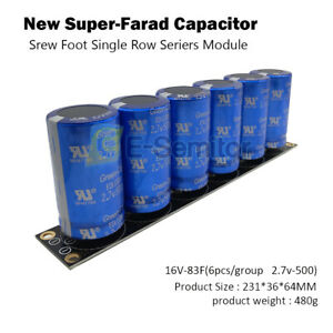 16v 83f 2 7v 500f Automotive Super Farad Capacitor Module With Board For Car