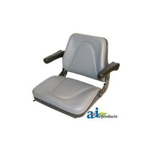 T500gy Universal Seat W Slide Flip up Armrests For Tractors Equipment Mower