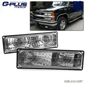 Pair For Chevy Silverado Pickup 88 98 Bumper Parking Lights Turn Signal Lamps