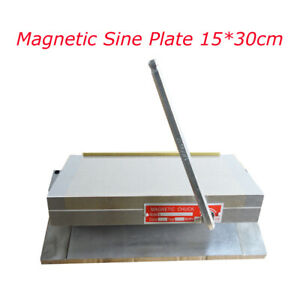 New Single Permanent Magnetic Sine Plate Magnetic Chuck 6 12 Inch Workholding