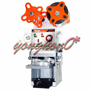New Wy 680 Semi automatic Bubble Tea Cup Sealing Machine Juice Cup Sealer 220v