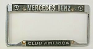 Vintage Mercedes Benz Club America License Plate Frame Used A001