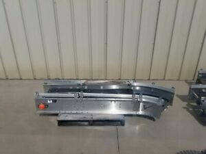 14 X 20 Long Stainless Powered Conveyor With Plastic Belting