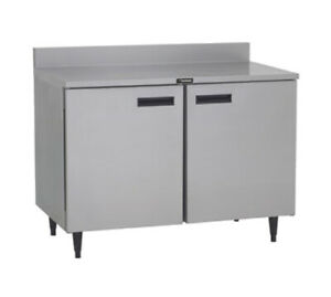 Delfield St4048p 48 Two section Work Top Refrigerator With 2 Solid Doors