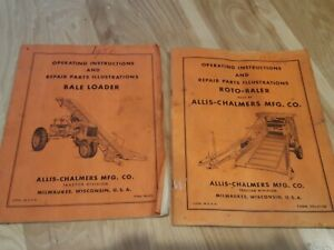 Allis Chalmers Bale Loader Roto Baler Operators Parts Manual Original Lot