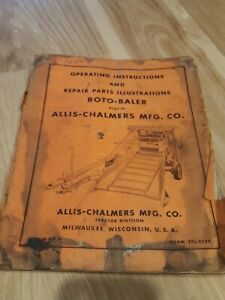 Allis Chalmers Roto Baler Owner Operator Parts Manual Original