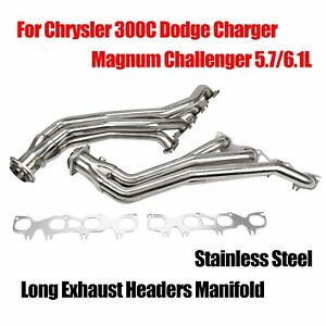 Stainless Long Headers Fits Chrysler 300c Dodge Charger Magnum Challenger