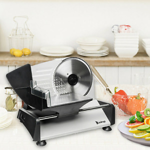 Commercial 10 Blade Electric Meat Slicer 240w 550rmp Home Deli Meat Food Slicer