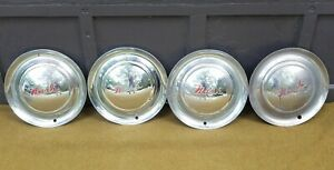 Set Of Four Vintage Early 1950s Nash Sombrero Wheel Cover Hubcaps