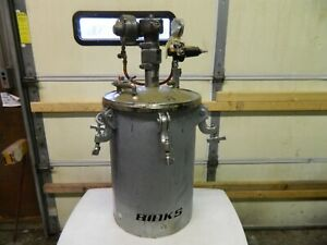 Lagrange Binks 10 Gallon Pressure Pot Tank Galvanized Steel 1420 4136 W Agitator