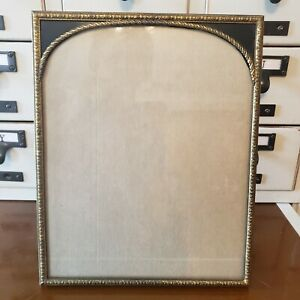 Vintage Antique Gold Tone Metal Table Top Picture Frame 8 X10 Free Shipping