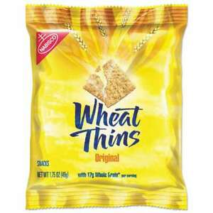 Nabisco Wheat Thins Crackers Original 1 75 Oz Bag 72 carton 019320007989