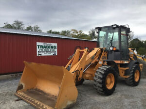 2013 Case 321e Series 3 Compact Wheel Loader W Cab Bucket And Forks Very Clean