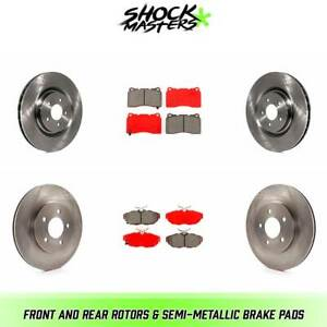 Front Rear Rotors Semi metallic Brake Pads For 2011 2012 Ford Mustang