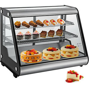 Commercial Refrigerated Display Case 160l Chrome Plated Shelves Double Tempered