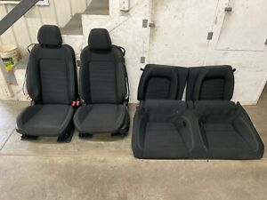 2015 2017 Ford Mustang Gt Black Cloth Front Rear Seats Power Oem