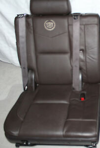 07 14 Escalade 3rd Third Row Seat Platinum Edition Cocoa Perforated 2007 2014