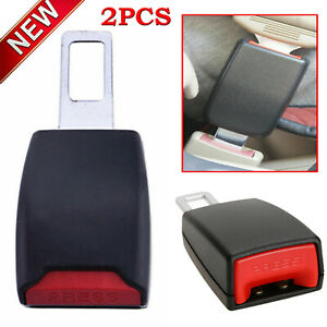 2pcs Car Universal Safety Seat Belt Extension Buckle Extender Clip Alarm Stopper
