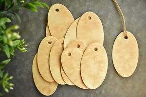 25 Oval Coffee Stained Hang Tags Primitive Christmas Vintage Gift Tags