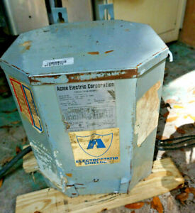 Acme 15kva Electric Dry Transformer Cat T 2 53647 1s Tested With Wires