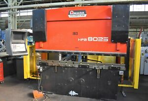 88 Ton Amada hfbo8025 Cnc 6 axis Down acting Hydraulic Press Brake 28836