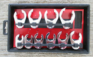 Craftsman 10 Pc Sae Crowfoot Flare Nut Wrench 3 8 Inch Drive Set Sizes Below