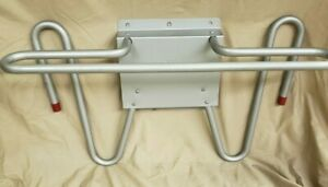 Wolf Tri rack X ray Lead Apron Glove Rack Hanger Matte Silver Finish