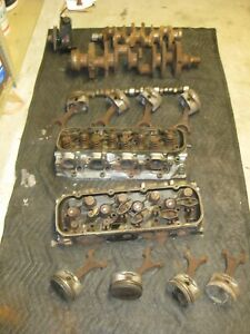 Used Gm 10114156 Gen Big block Engine 454 Cylinder heads L r And Misc
