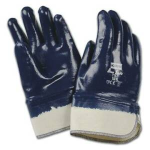 144 Pairs North Honeywell T157 Bluesafe Rubber Coated Safety Work Gloves New