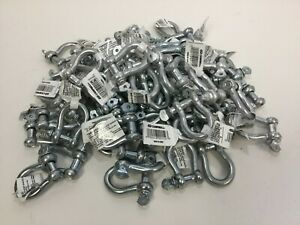 5 16 Screw Pin Anchor Shackle Forged Steel Zinc Plated 5 16 70 Count