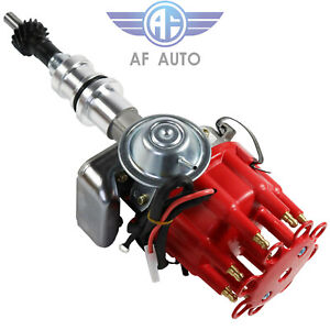Fits Sbf Ford Small Block 289 302 R2r Hei Distributor With Red Cap Ready To Run